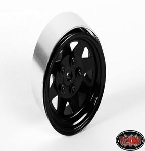 [Z-W0129]5 Lug Wagon 1.9 Steel Stamped Beadlock Wheels (Black) [한대분 4개포함]