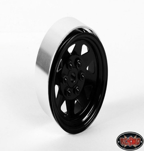 [Z-W0130]6 Lug Wagon 1.9 Steel Stamped Beadlock Wheels (Black)  [한대분 4개포함]