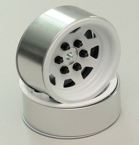 [ Z-W0118]OEM Steel 2.2 Stock Beadlock Wheel (White Edition)