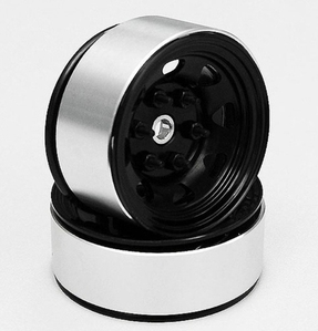 [ Z-Q0008 ]Stamped Steel Single 1.55 Stock Black Beadlock Wheel