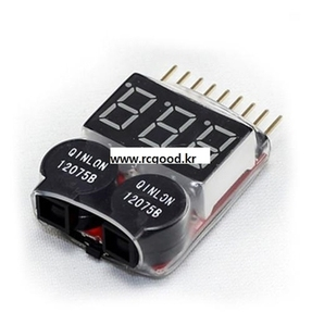 1 Piece New RC Lipo Battery Low Voltage LED Tester Meter 1S -8S Buzzer Alarm Indicator[리튬폴리머 배터리 저전압 경고부져]