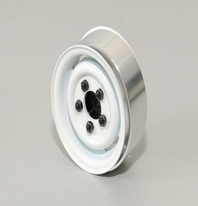 [Z-Q0029]1.55 Landies Vintage Single Stamped Steel Beadlock Wheel (White)
