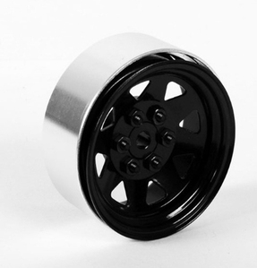 [Z-Q0001 ]6 Lug Wagon 1.9 Single Steel Stamped Beadlock Wheel (Black)