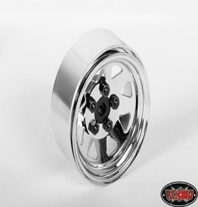 [RC4WD]5 Lug Wagon 1.9 Single Steel Stamped Beadlock Wheel (Chrome)