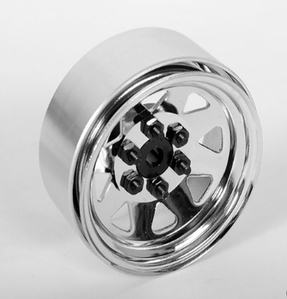 [Z-Q0039 ]6 Lug Wagon 1.9 Single Steel Stamped Beadlock Wheel (Chrome)
