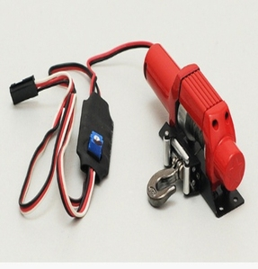[Z-E0010]Bulldog 9300XT Scale Winch (RED)