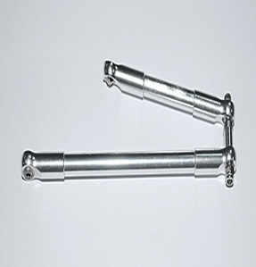 [ Z-S0156]Front Steering Links for Black Widow Axles (Silver)