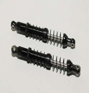 [Z-D0011]Dual Spring 100mm Scale Black Shocks