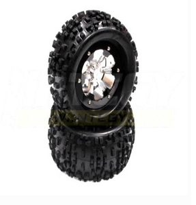 Type IV 3.0 Wheel + Tire (2) for 2.2 Crawler (O.D.=138mm w/ 12mm Hex) C22840BLACK