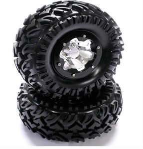 Type II Wheel 2.2 Size & Crawler Tire (2) (O.D.=125mm w/ 12mm Hex) C22791BLACK