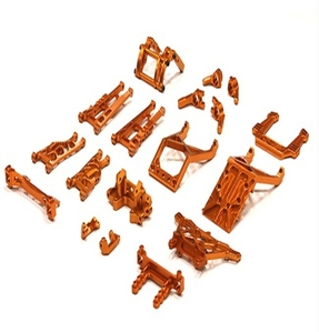 Billet Machined Alloy Conversion Set for Traxxas 1/10 2WD Monster Jam Series T8139ORANGE
