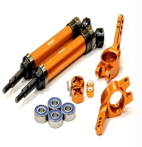 Heavy-Duty 6mm Wheel Axle Conversion for 1/10 Stampede 2WD, Rustler, Monster Jam T8183ORANGE