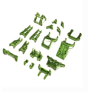 Billet Machined Alloy Conversion Set for Traxxas 1/10 2WD Monster Jam Series T8139GREEN