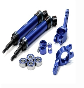 Heavy-Duty 6mm Wheel Axle Conversion for 1/10 Stampede 2WD, Rustler, Monster Jam T8183BLUE