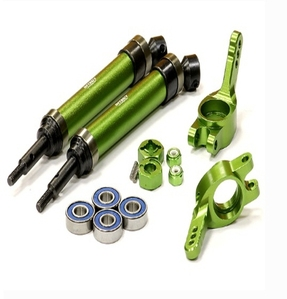 Heavy-Duty 6mm Wheel Axle Conversion for 1/10 Stampede 2WD, Rustler, Monster Jam T8183GREEN