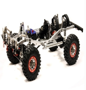 Billet Machined 1/10 Trail Roller 4WD Off-Road Scale Crawler ARTR C24866SILVERT1