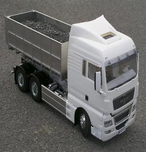 [1/14 타미야용 후크리프트 시스템 / 덤프통은 제외] Abrollaufbau Bausatz für Tamiya mit Hilfszylinder