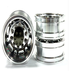 Billet Alloy T2 Rear Wheel Type 12R Set (2) for Tamiya 1/14 Scale Tractor Trucks C25022GUN