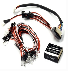 G.T. Power 4-Channel LED Lighting System for Custom 1/14 Semi-Tractor Truck C24932