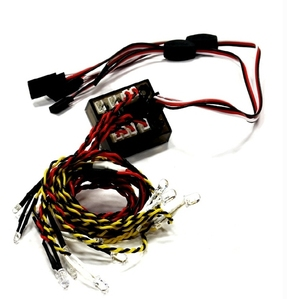2CH Type Complete 12 LED Light Set w/ Control Box for 1/10 Drift & Touring Car C24930