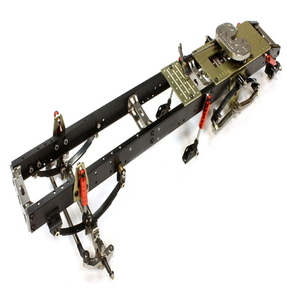Ladder Frame Chassis Assembly w/ Front Axle for Custom 1/14 Semi-Tractor Truck C25745GUN