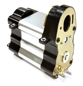 Billet Machined Gearbox w/ Complete Transmission for Custom 1/14 Semi-Tractor C25746SILVERBLACK