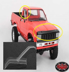 [Z-S1377] Front Hood and Window Deflector Set for Mojave and Hilux Bodies