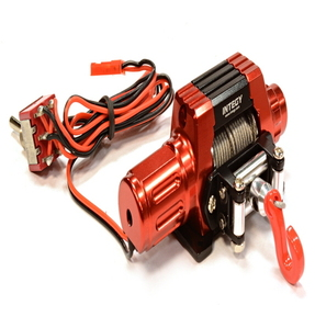 [C25871RED] Billet Machined T10 Realistic High Torque Mega Winch for Sacle 1/10 Rock Crawler