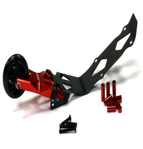 [T4121RED] Evolution-6 Billet Machined Alloy Wheelie Bar for Traxxas 1/10 E-Revo & Summit
