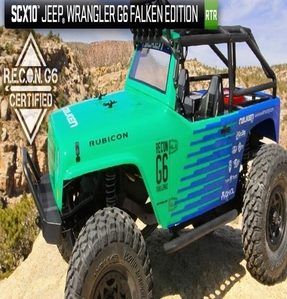 [AX90036-R] Axial SCX10 Jeep® Wrangler G6 Falken Edition 1/10th Scale Electric 4WD RTR [3채널 송수신기 포함 RTR 제품입니다]