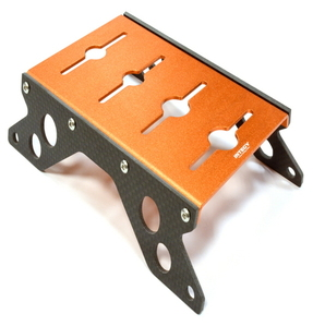 [C25817ORANGE]Carbon 40mm Side Plate Car Stand w/ Shock Stand for 1/10 Scale
