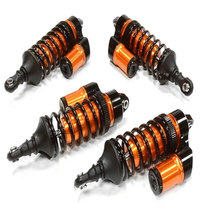 [C26072ORANGE] Billet Machined Piggyback Shock (4) for Traxxas 1/10 Scale Summit 4WD