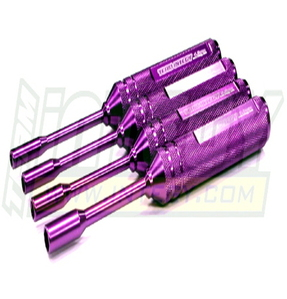 [C22407PURPLE]ProGrip Metric Size 6061 Alloy Hex Socket Wrench Set (4) 4.5, 5, 5.5 & 7mm