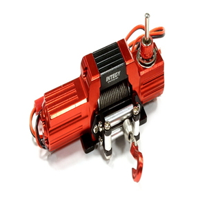 [C25623RED] Billet Machined T8 Realistic High Torque Mega Winch for Scale Crawler 1/10 Size