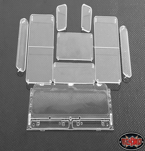 [Z-B0053] Land Rover Defender D90 Clear Window Set