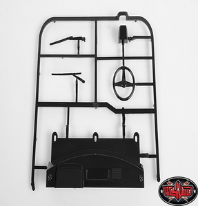 [Z-B0080] RC4WD Mojave II Dash and Wiper Parts Tree (Black)
