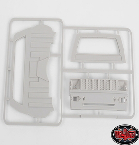 [Z-B0074] RC4WD Mojave II Cab Back Panels and Grill Parts Tree (Primer Gray)