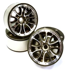 [C25848GUN]Billet Machined High Mass 12 Spoke 2.2 Size Wheel for 1/10 Rock Crawler