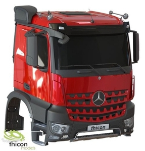 [출시연기/11월 입고예정- 입고전까지 주문시 10%할인] 1/14 Mercedes-Benz Arocs-M Fahrerhausbausatz unlackiert [1/14 타미야트레일러 호환가능 / 미도색바디]