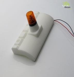 Steinschlagschutz-Halter für Warnleuchte hinten [굴삭기 운전석 리어 경광등 마운트/피스트킹 경광등 사용가능]