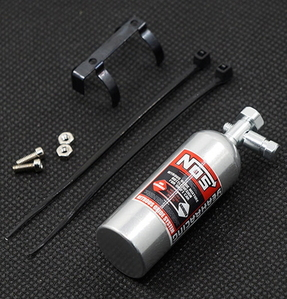 (#YA-0429SV) Yeah Racing Aluminum Nos Nitrous Oxide Balance Weight Bottle 23g For 1/10 RC Silver