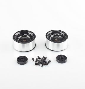 [97400046] CROSS 1/10 알미늄 블랙 1.9인치 휠 [2개포함]