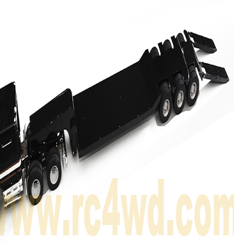 1/14 Scale Heavy Duty Flat Bed Transporter Trailer (Black)