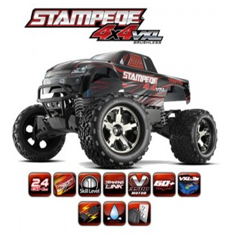 CB6708 STAMPEDE 4X4 VXL Brushless Monster Truck RTR w/ 2.4GHz Traxxas Link