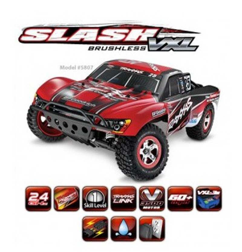 CB5807 1/10 Slash VXL 2WD Brushless Short-Course Race Truck RTR
