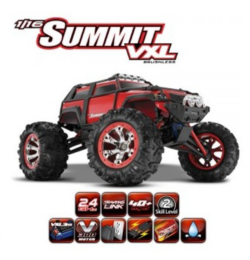 CB7207 1/16 Summit VXL - TQ 2.4GHz (7.2V NiMH 배터리,충전기:120V 포함)
