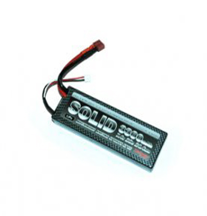 SD3300H MLI-SD3300H SOLID Li-Po Battery 3300mAh/7.4V 20C H-series Wire Flat Hard Case