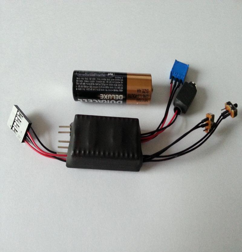 스케일 픽업트럭용 미니 사운드 [1/8~1/24 스케일사용가능] 두가지 사운드,LED사용가능
