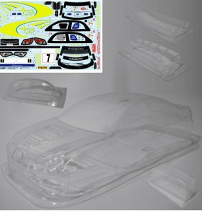 ATPD8284 Subaru Impreza WRC Monte Carlo'07 CLEAR Body (190mm) fit 1/10 Touring EP